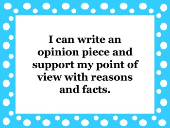 """4th Grade Writing Common Core """"I Can"""" Posters"""