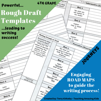 "4th Grade:  Writing Mastery with ""Rough Draft"" Templates ("