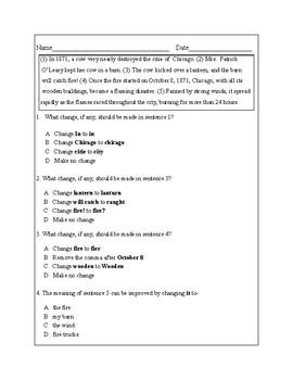 4th Grade Writing Practice 8