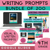 4th Grade Writing Prompts Bundle | 200 Writing Prompts | G