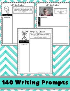 4th Grade Writing Prompts {Digital & PDF Included}