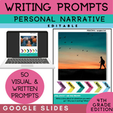 4th Grade Writing Prompts | Personal Narrative Writing | G