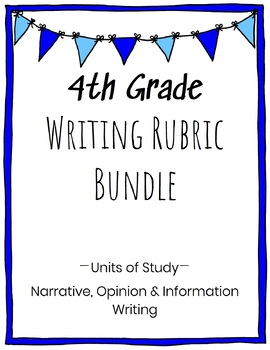 4th Grade Writing Rubric Bundle