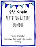 4th Grade Writing Rubric Bundle