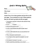 4th Grade Writing Rubric to help students edit and revise