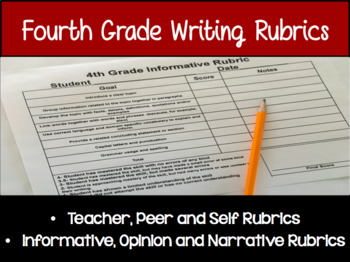 4th Grade Writing Rubrics