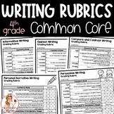 4th Grade Writing Rubrics   Common Core Aligned