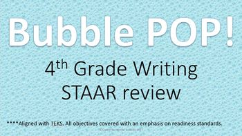4th Grade Writing End of Year Review Game for REVISING and EDITING