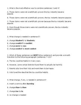 4th Grade Writing STAAR Test Prep-Fidget Spinners