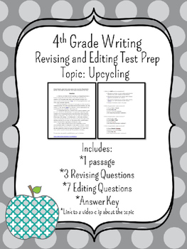 4th Grade Writing STAAR Test Prep: Upcycling