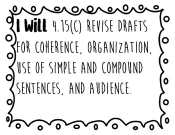 4th Grade Writing TEKS (Readiness Standards)