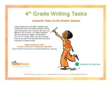 4th Grade Writing Tasks- Authentic Tasks for the Modern Student