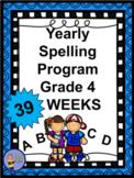 4th Grade YEAR LONG Spelling Program – Answer Key and BONU