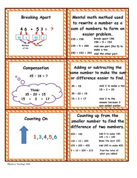 4th Grade enVision Math Topic 4 Vocabulary Sort and Match