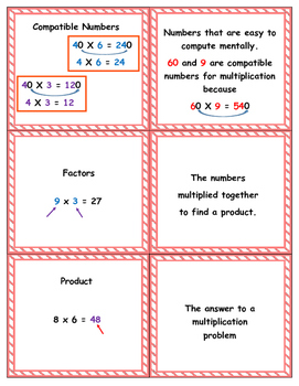 4th Grade enVision Math Topic 8 Vocabulary Sort and Match