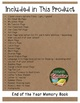 4th Grade is in the Books! - End of the Year Memory Book - 26 Activities NO PREP