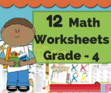 4th Grade math Bundle - Math Center