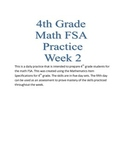 4th Grade math FSA Practice Week 2