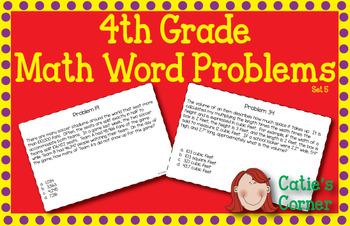 4th Grade math Word Problems Set 5