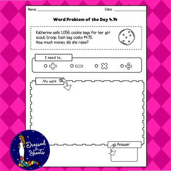 4th Grade word problem of the day