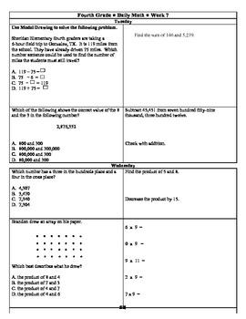 4th GradeMath Spiral Review