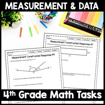 4th Grade Measurement & Data Constructed Response, 10 Multi-Part Tasks