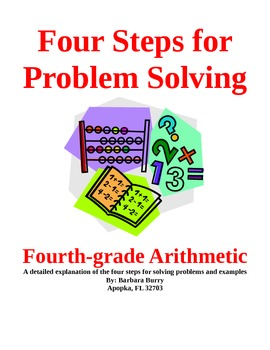 4th Grd Arithmetic 4 Steps for Problem Solving