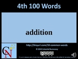 4th Hundred Words with Audio - 1,000 Word Fluency Program (Free)