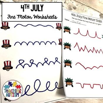 4th July Fine Motor Skills Practice