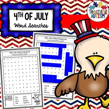 4th July Independence Day Word Search
