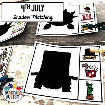 4th July Shadow Matching Task Cards