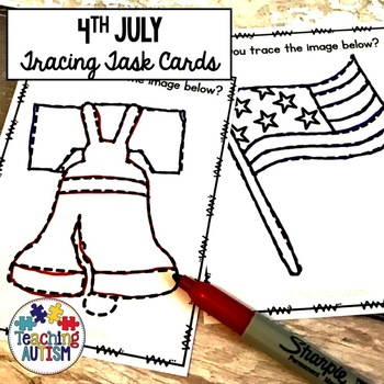 4th July Tracing Task Cards