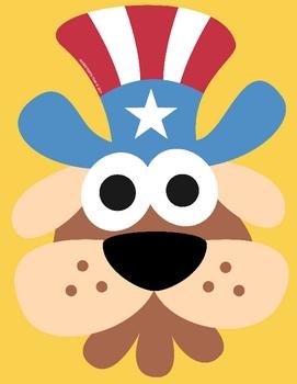 4th July Uncle Sam Dog Mask