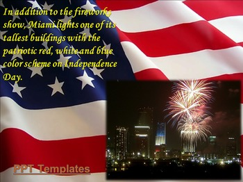 4th July or Happy Independence Day of America PowerPoint P