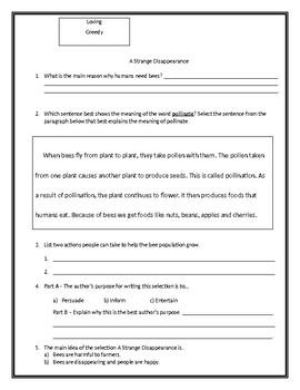 4th McGraw-Hill Start Smart FSA Comprehension Test