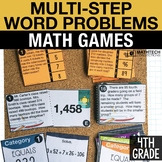 4th - Multi-Step Word Problems Centers - Math Games