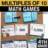4th - Multiples of 10 Math Centers - Math Games