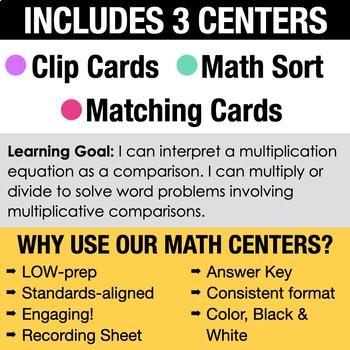4th - Multiplicative Comparisons Centers - Math Games