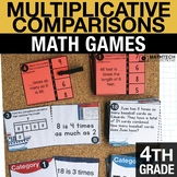 4th - Multiplicative Comparisons Centers - Math Games
