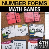 4th - Number Forms Math Centers - Math Games