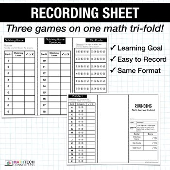 4th - Rounding Math Centers - Math Games