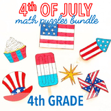 4th OF JULY MATH CRAFTS AND ACTIVITIES - FOURTH GRADE BUNDLE