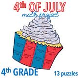 4th OF JULY MATH CRAFTS - CUPCAKE - FOURTH GRADE