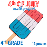 4th OF JULY MATH CRAFTS - POPSICLE - FOURTH GRADE