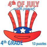 4th OF JULY MATH CRAFTS - UNCLE SAM HAT - FOURTH GRADE