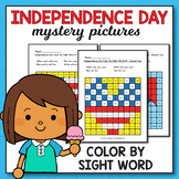 4th of July Color By Sight Word - 4th of July Activities f