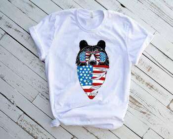 online store b0bf1 9e430 4th Of July Svg, American Flag Svg, American Bear Svg, Glasses Svg 1402s