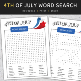 4th Of July Word Search: Independence Day Activity, Puzzle Worksheet