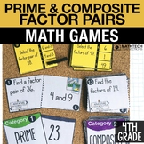 4th - Prime & Composite Numbers, Create Factor Pairs Cente