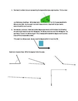 4th Protractor Practice TEKS 4.7C